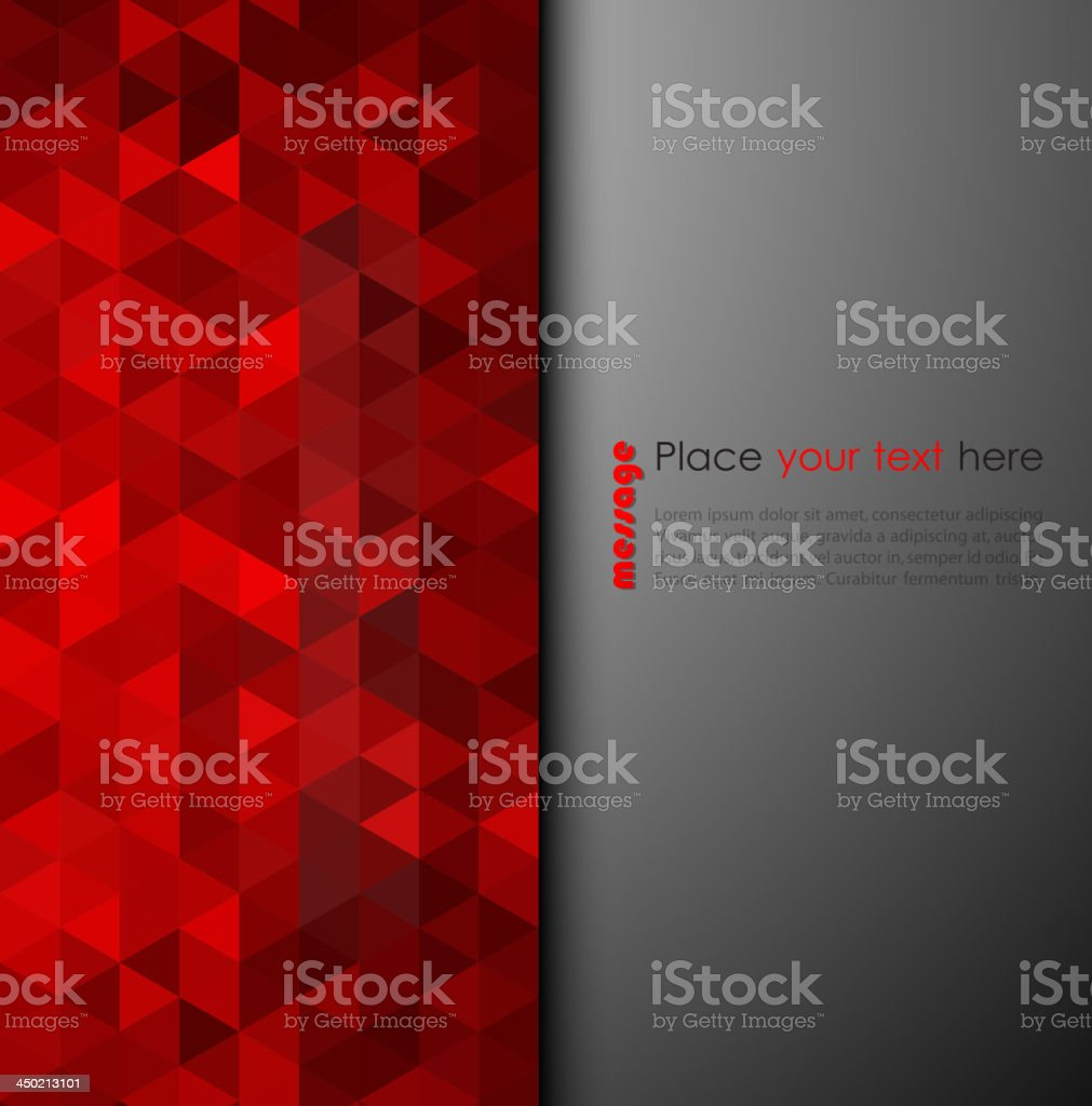Abstract background of red triangles vector art illustration