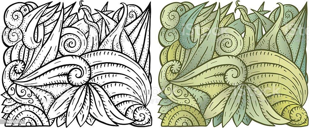 Abstract Background Organic Leaf Ocean Floor royalty-free stock vector art