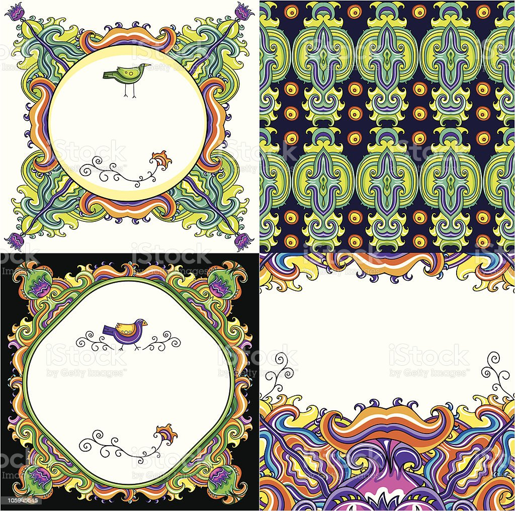 Abstract background set  ( floral series) royalty-free stock vector art