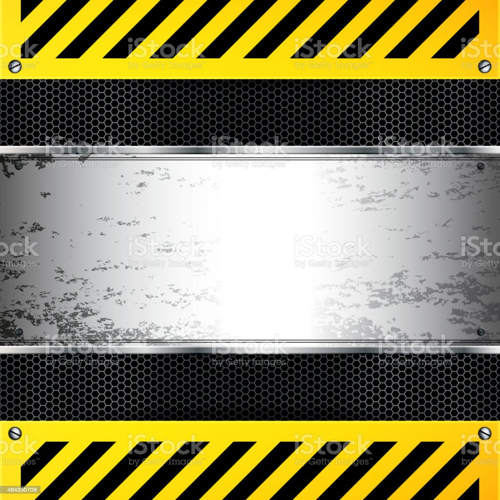 Abstract background silver band in between yellow and black royalty-free stock vector art