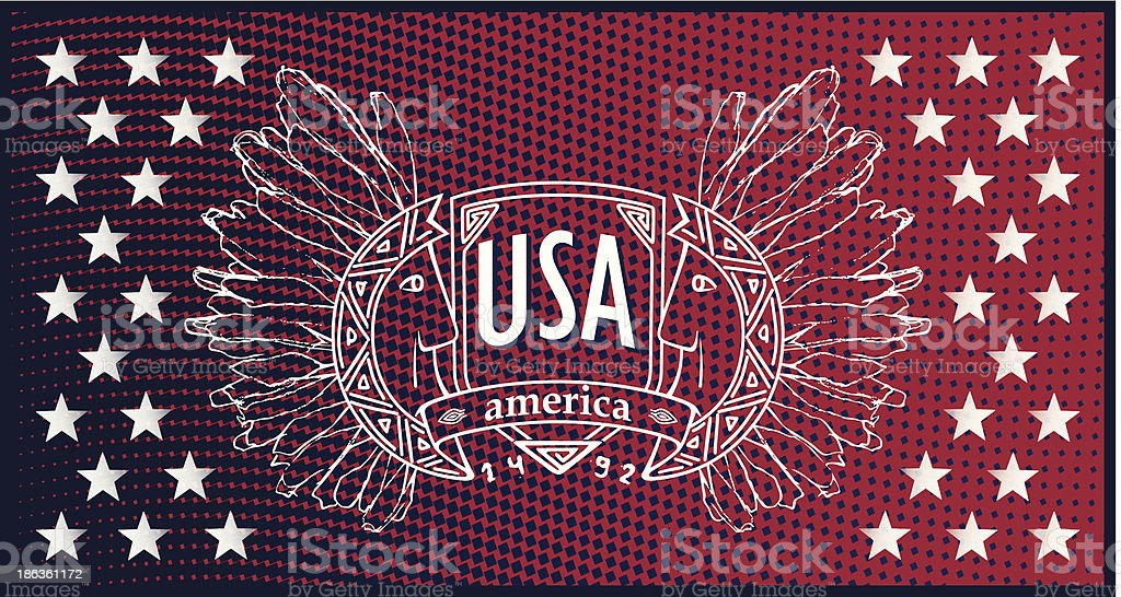 Abstract background USA patriotic design royalty-free stock vector art