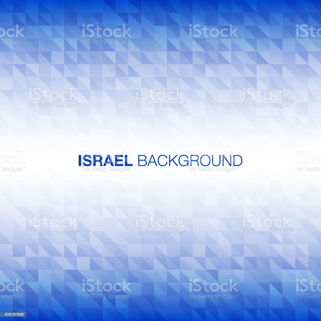 Abstract Background using Israel flag colors vector art illustration
