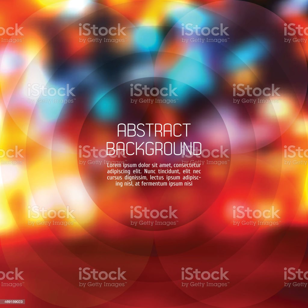 Abstract background. Vector Blurry Lights vector art illustration