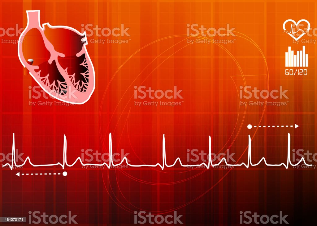 ECG Abstract Background royalty-free stock vector art