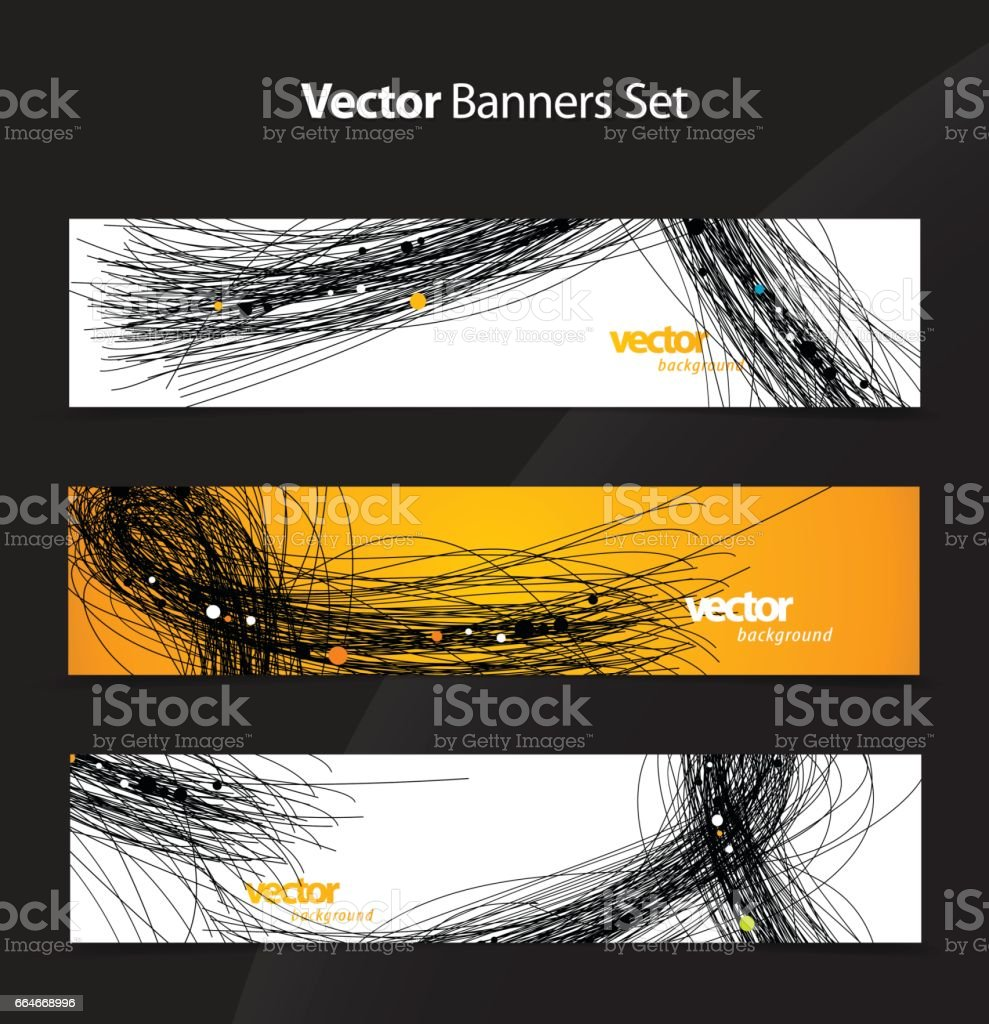 Abstract background wallpaper set with lines. vector art illustration