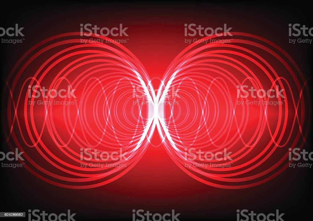 Abstract background wave surround technology vector art illustration