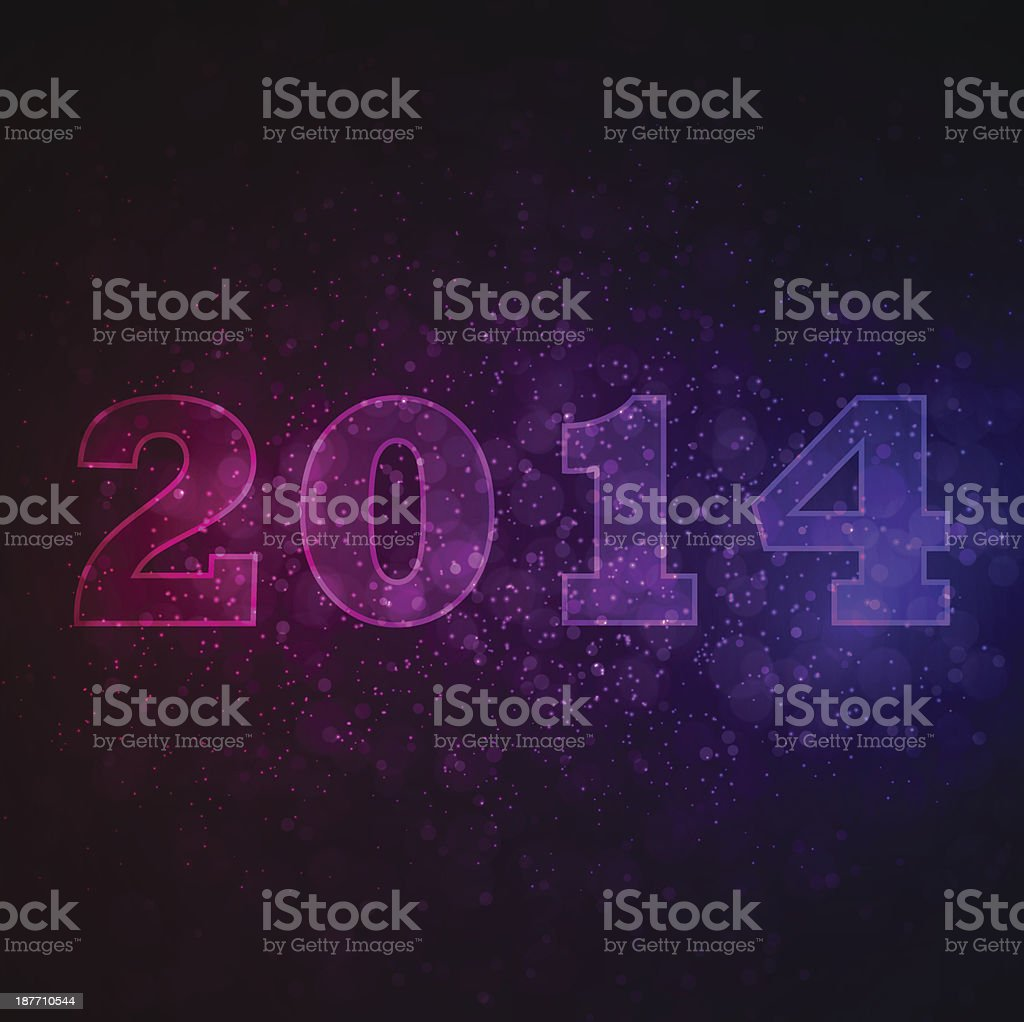 Abstract background with 2014 royalty-free stock vector art