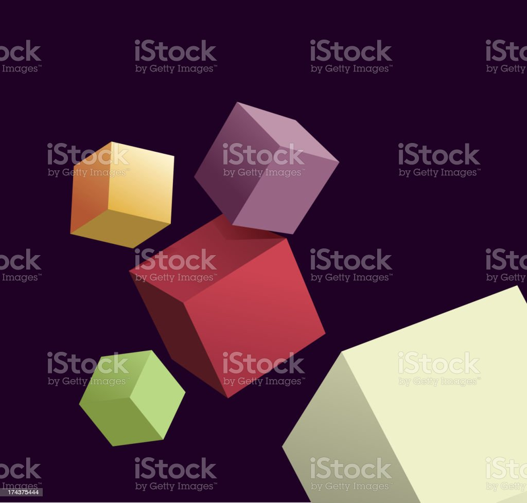 abstract  background with 3d cubes royalty-free stock vector art