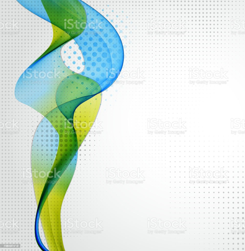 Abstract background with blue and green swirls royalty-free stock vector art