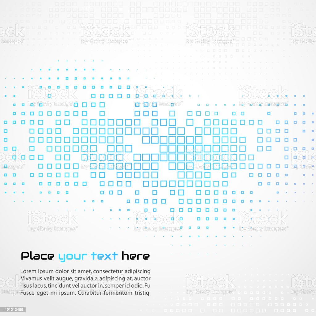 Abstract background with blue squares vector art illustration