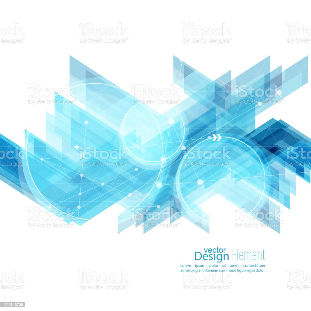 Abstract background with blue stripes vector art illustration