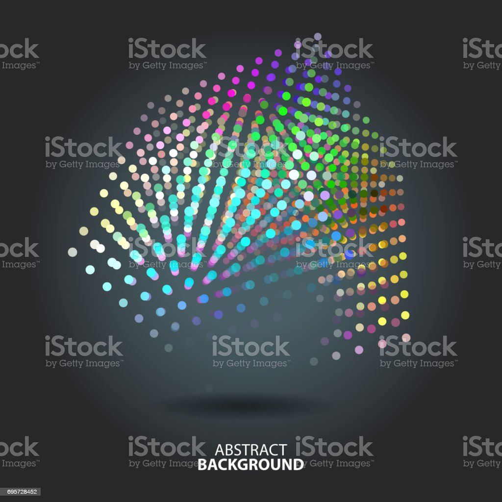 Abstract background with blur dots and lines on theme digital technology vector art illustration
