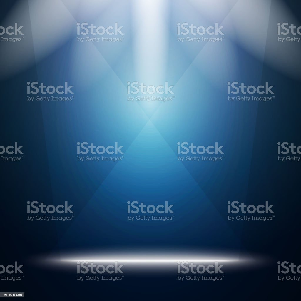 Abstract Background with Bright Stage Light Rays. vector art illustration