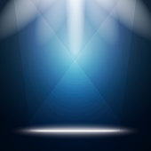 Abstract Background with Bright Stage Light Rays.
