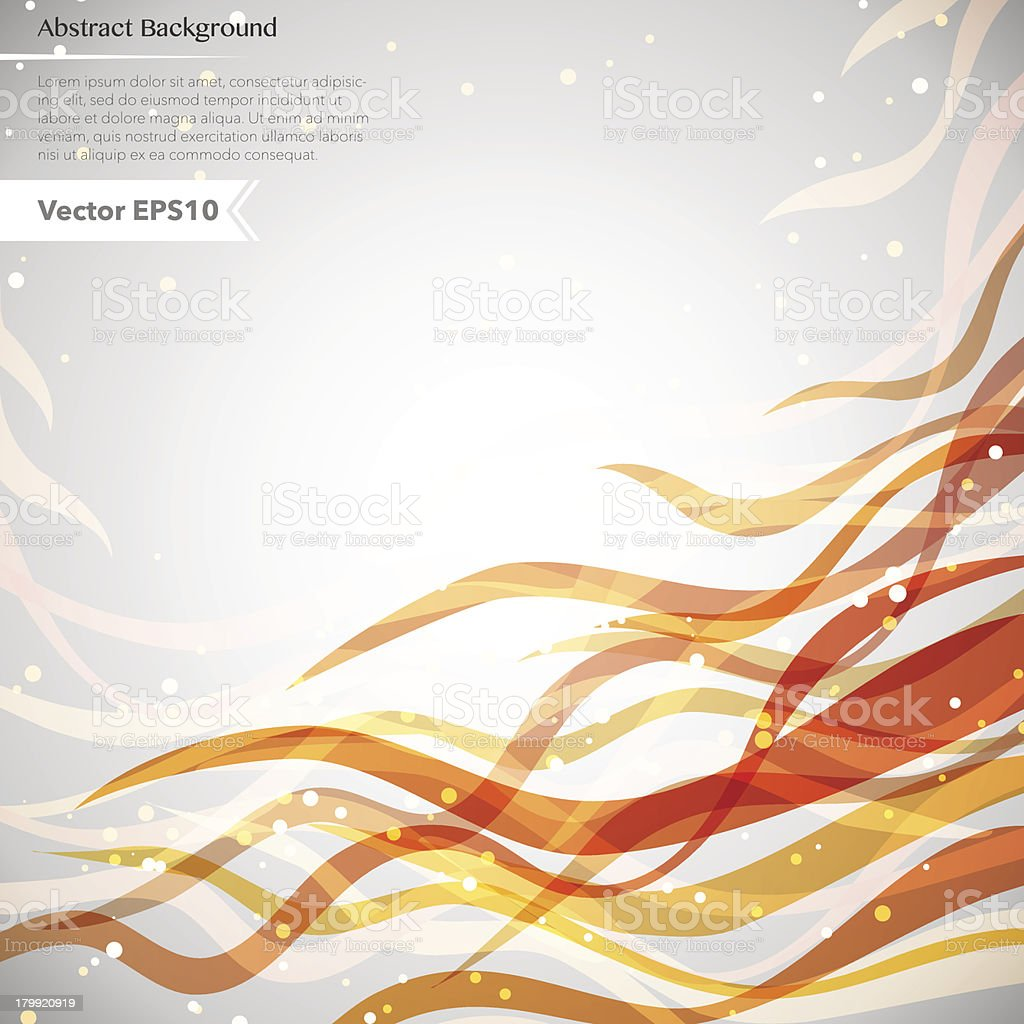 Abstract background with bright waves. royalty-free stock vector art