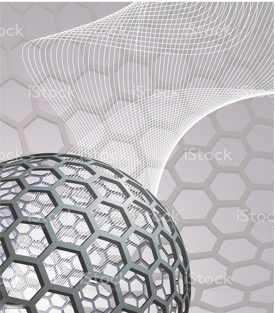 abstract background with buckyball royalty-free stock vector art