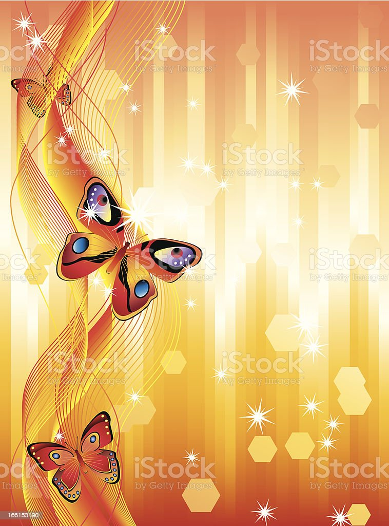 Abstract background with butterflies. royalty-free stock vector art