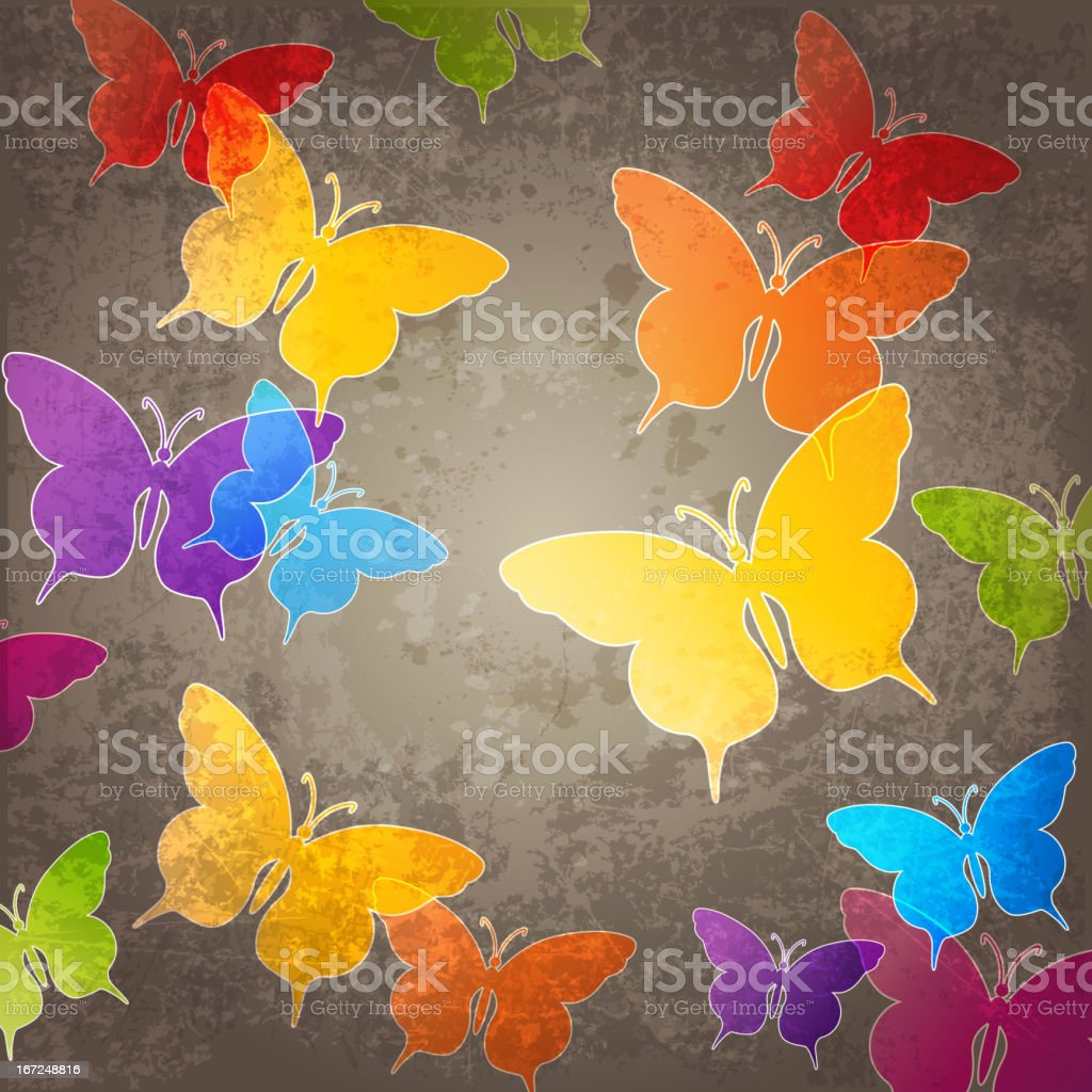 Abstract background with butterfly royalty-free stock vector art