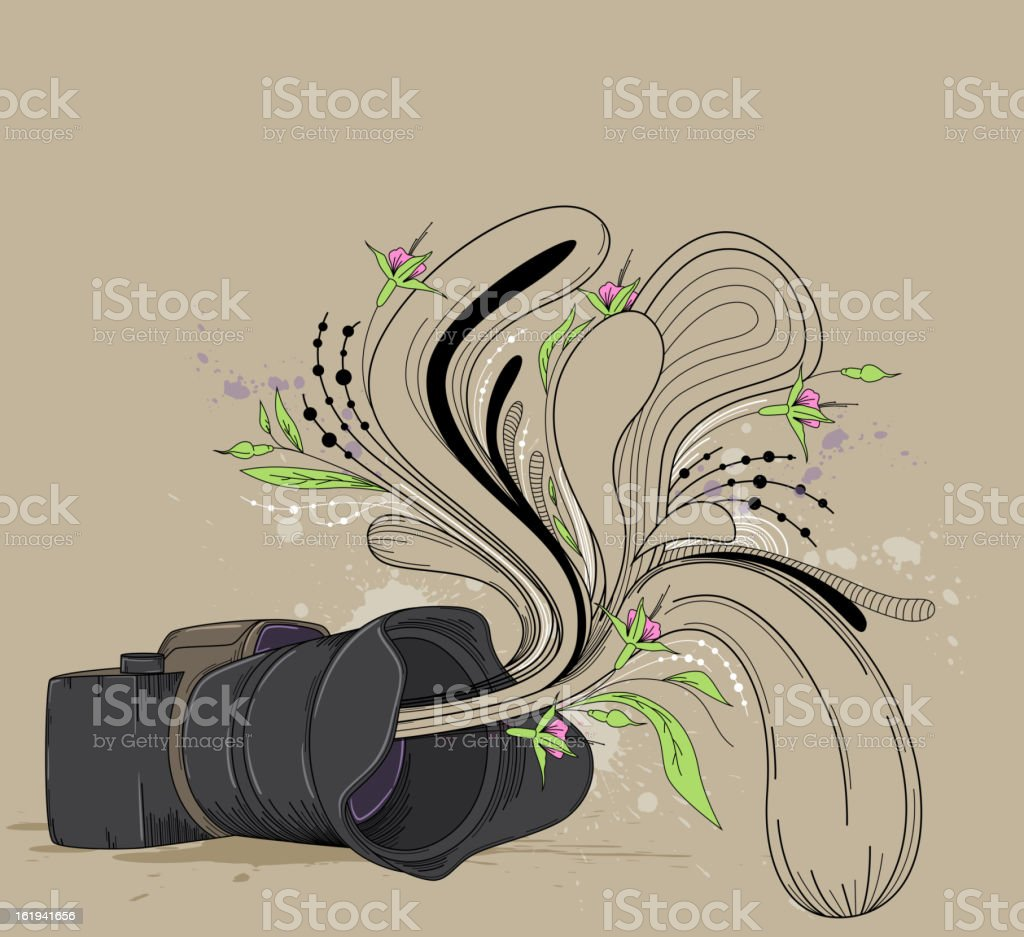 Abstract  background with camera royalty-free stock vector art