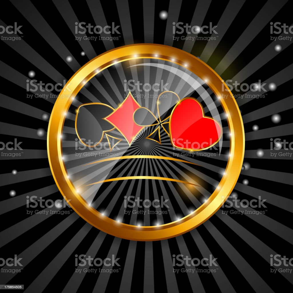 Abstract background with card suits for design. Vector illustration. vector art illustration