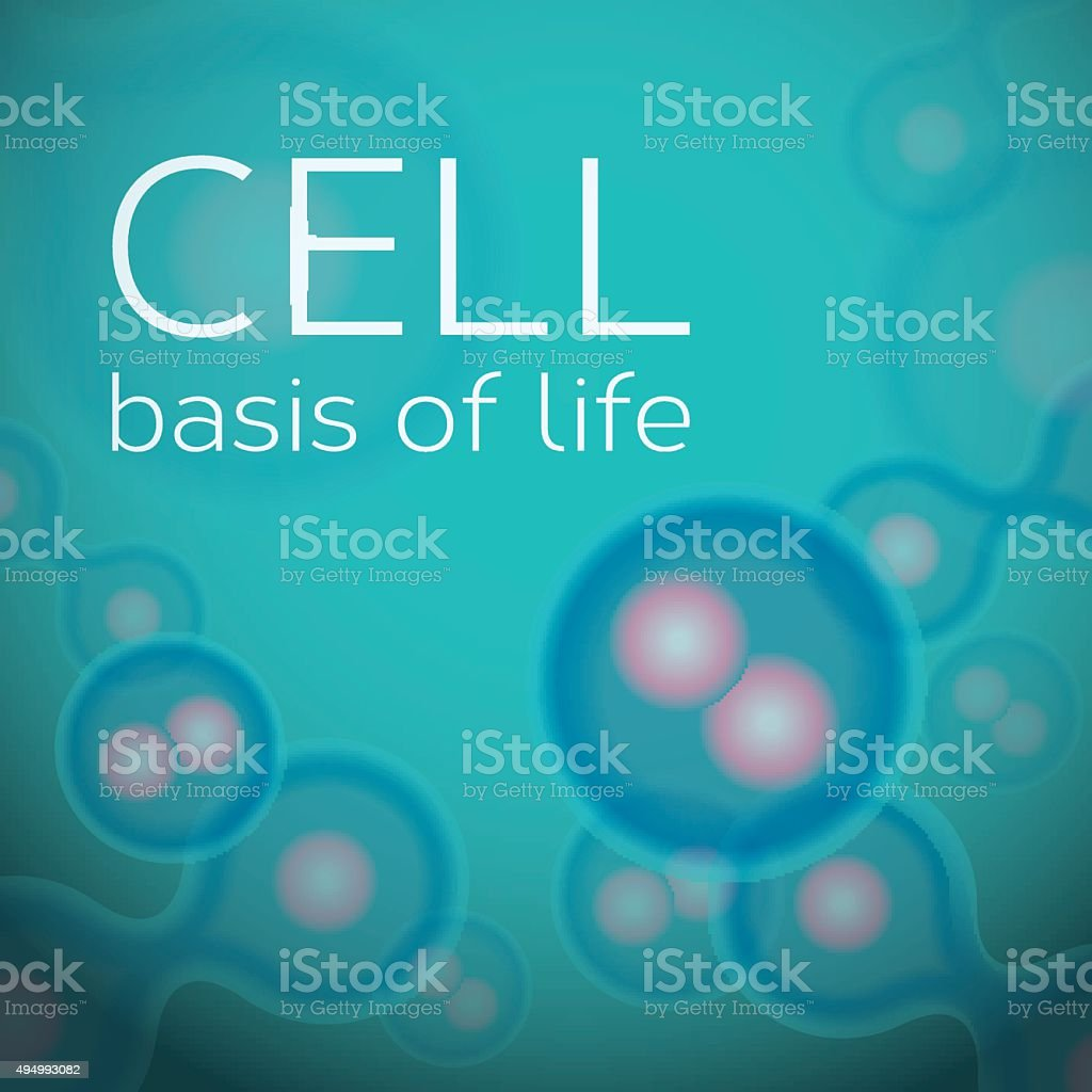 Abstract background with cells in dividing phase vector art illustration