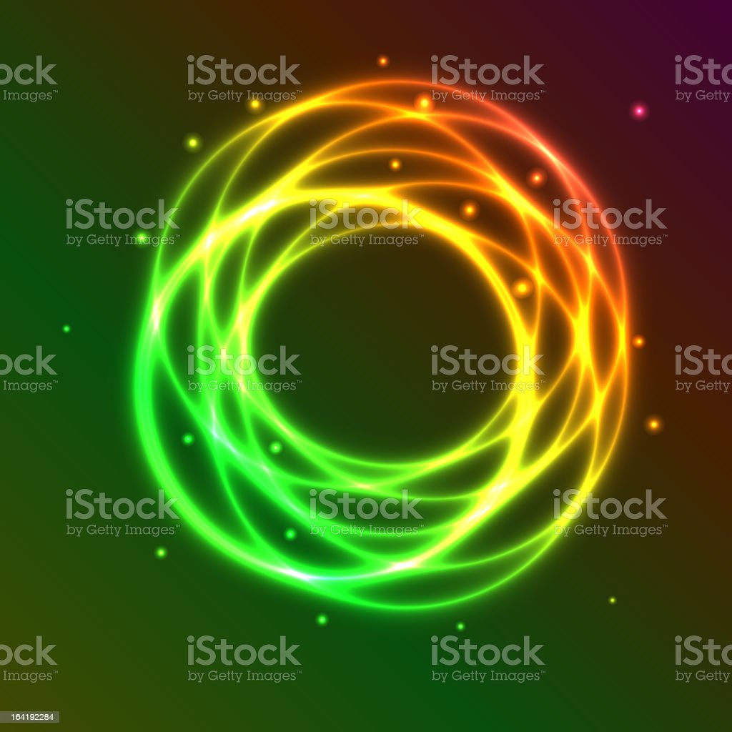 Abstract background with colorful plasma circle effect royalty-free stock vector art