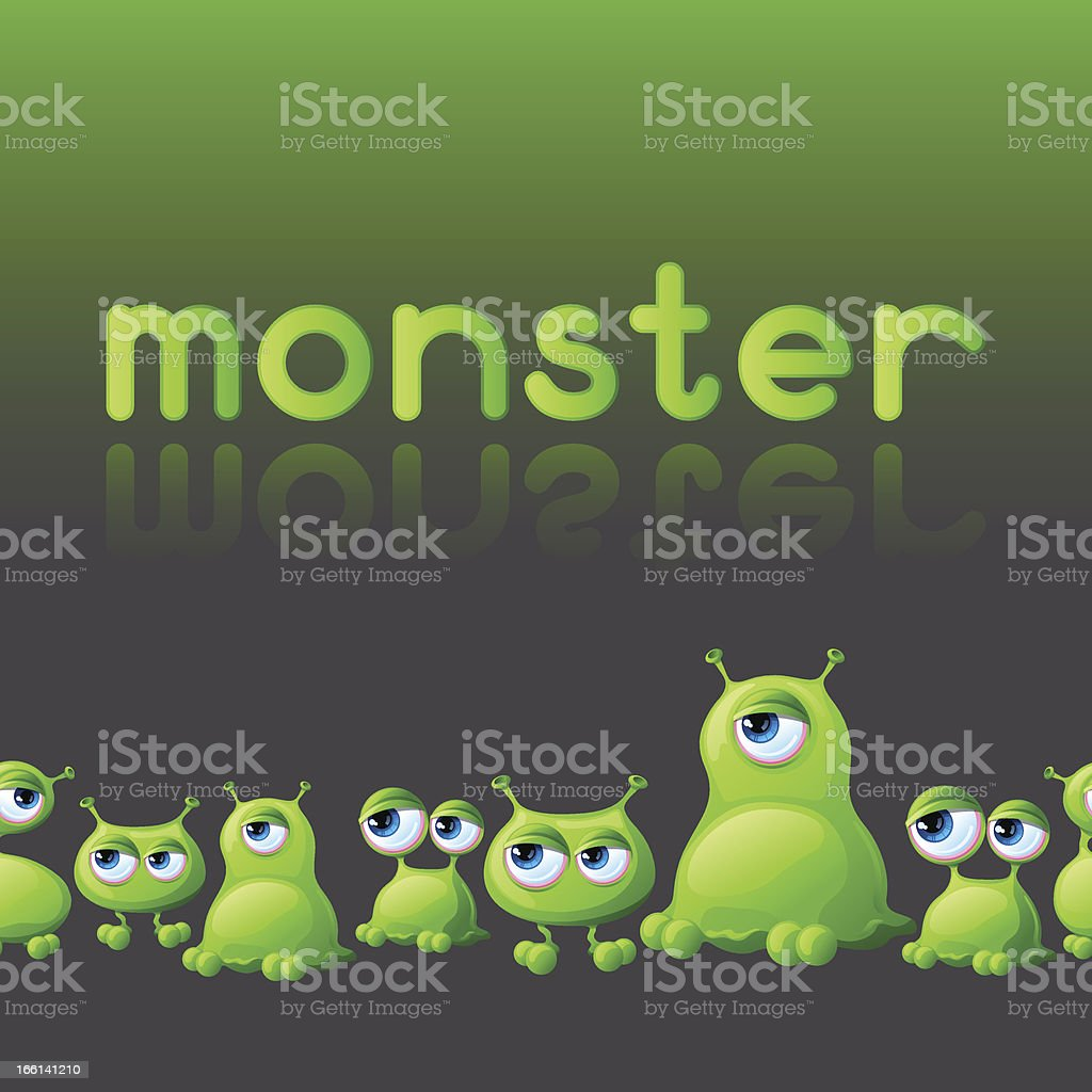 Abstract background with cute monsters. royalty-free stock vector art