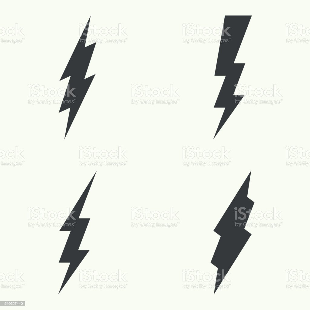Abstract background with electric lightning. vector art illustration