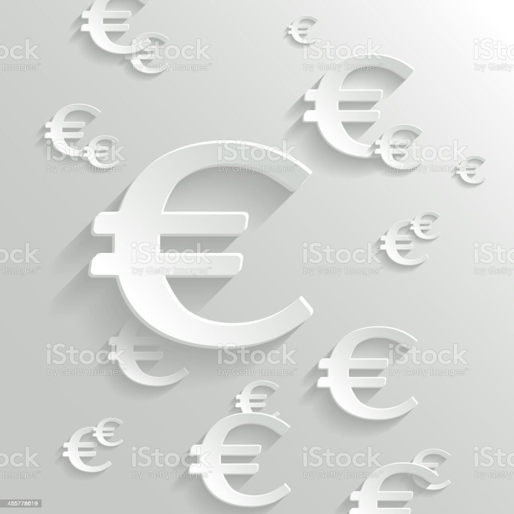 Abstract Background with Euro  Symbol. vector art illustration
