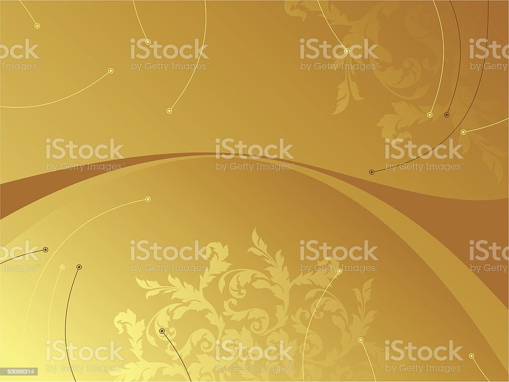 Abstract background with Flowers royalty-free stock vector art