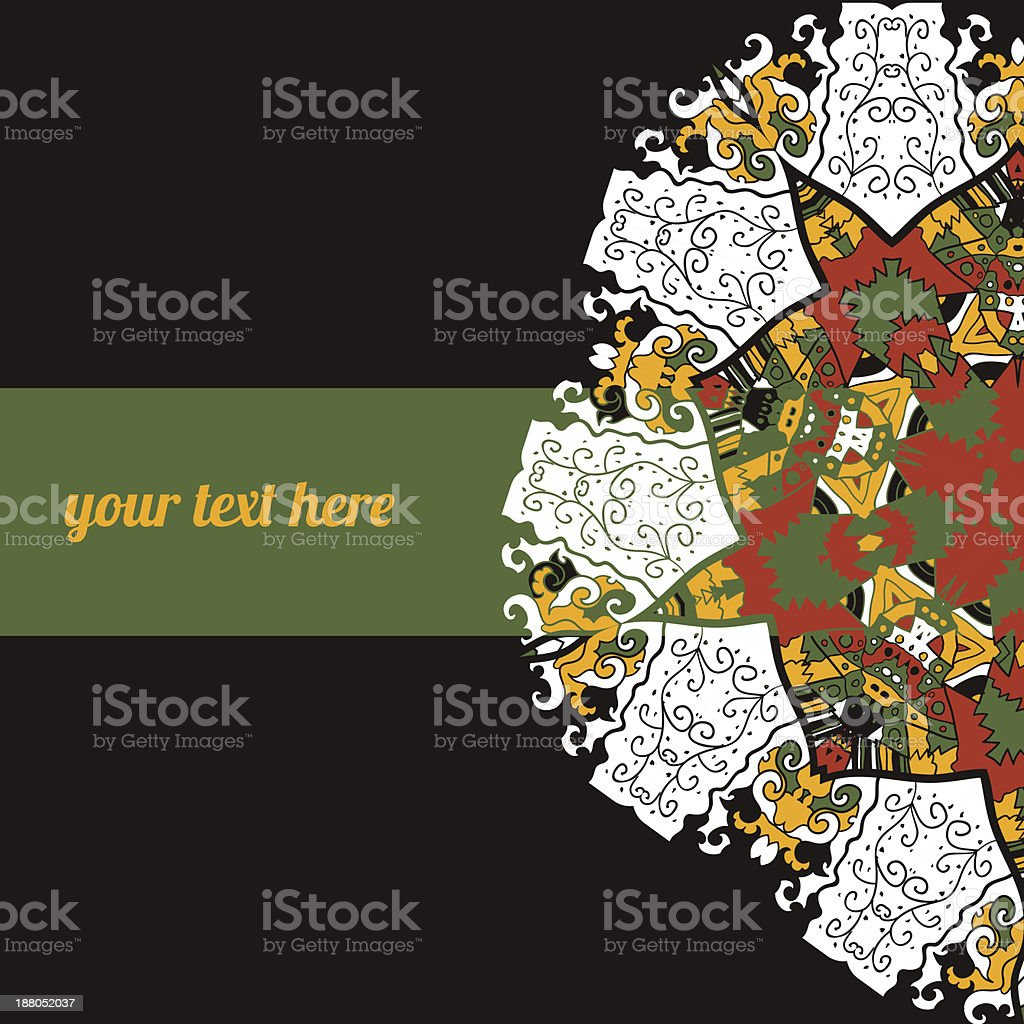 Abstract background with frame for text royalty-free stock vector art