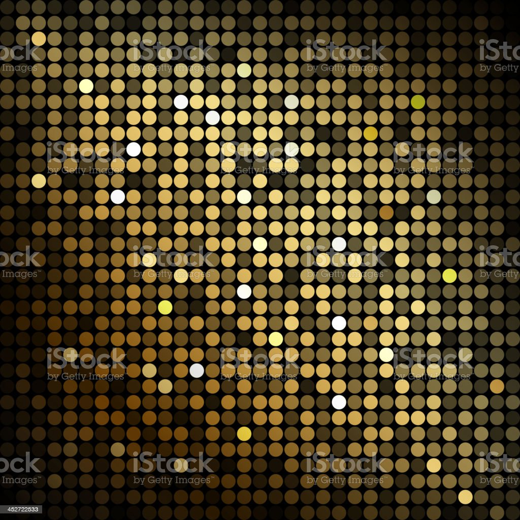 Abstract background with gold circles vector art illustration