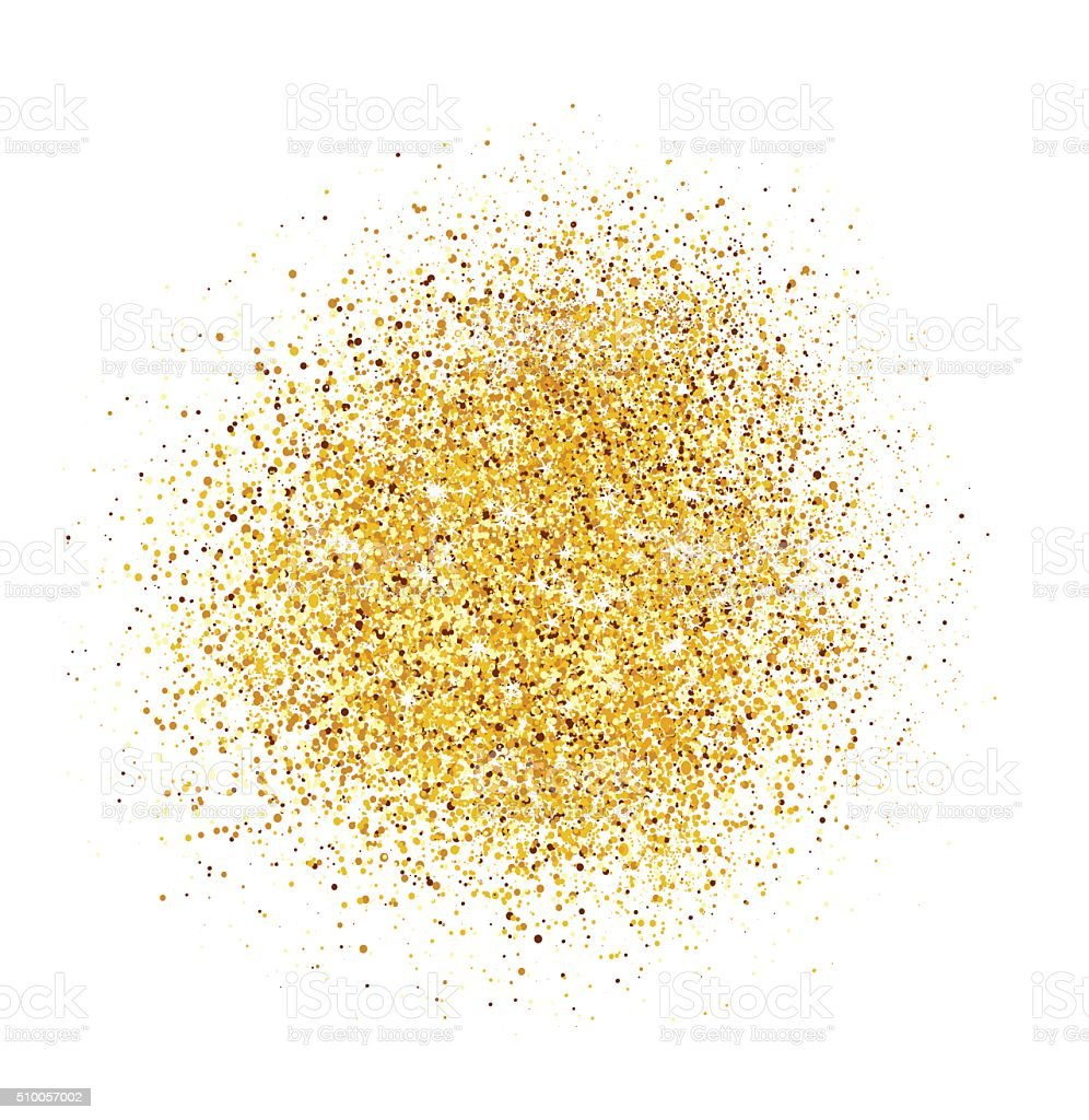 Abstract background with gold glitter texture. vector art illustration