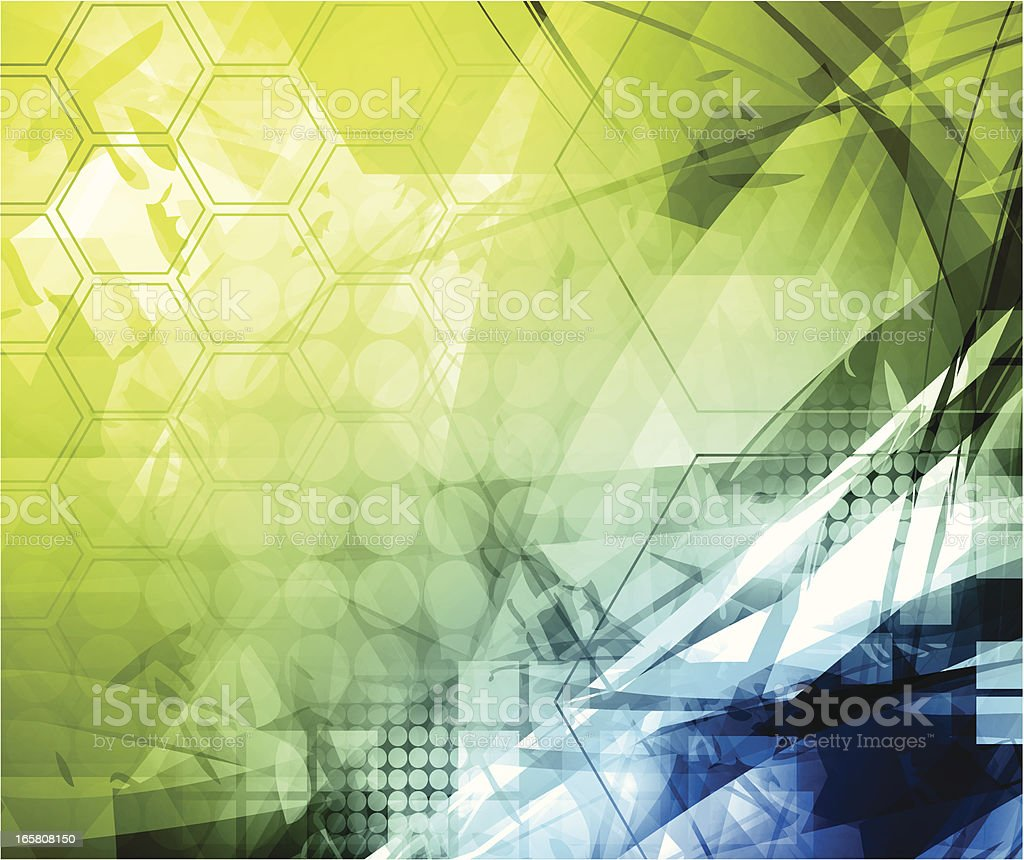 Abstract background with green and blue design royalty-free stock vector art
