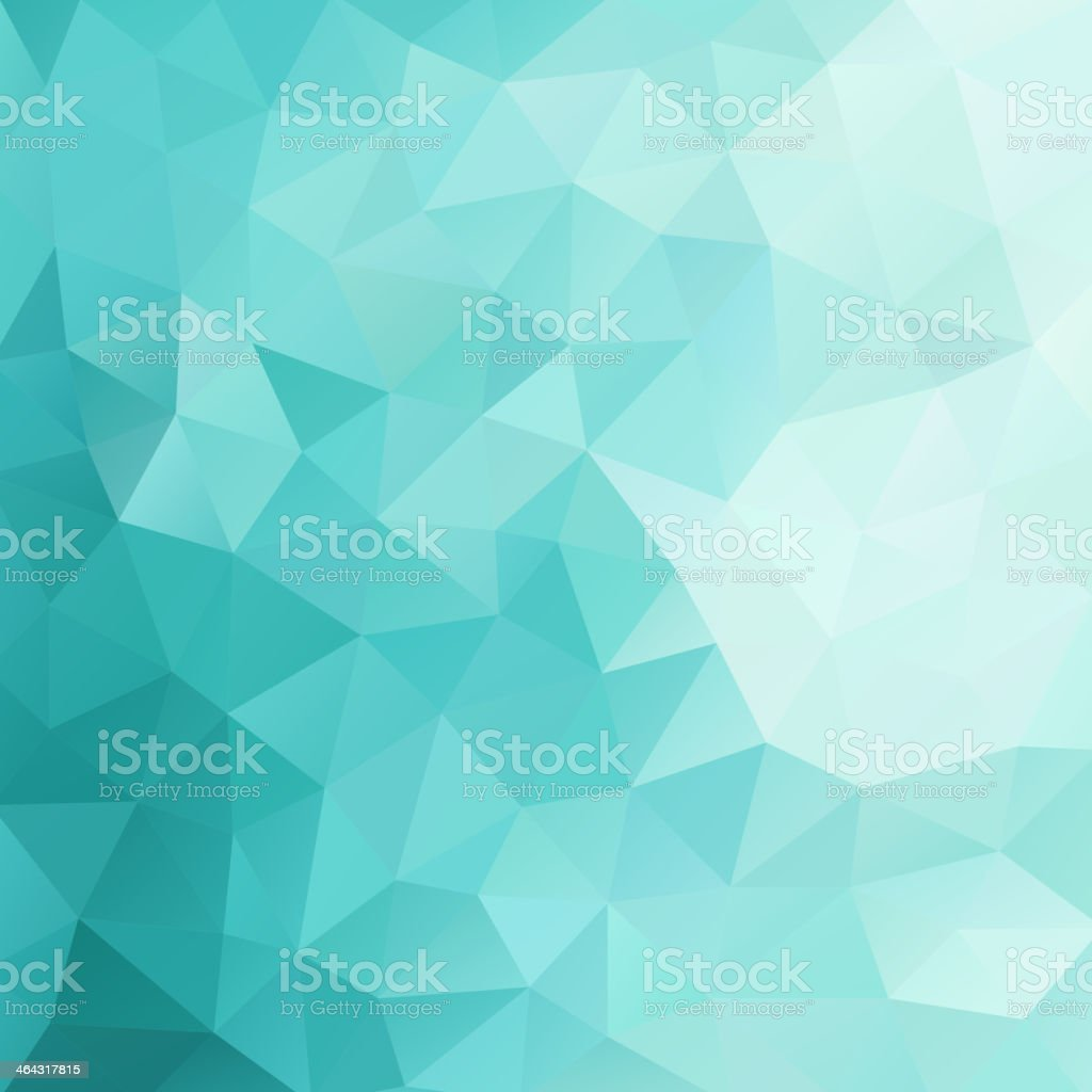 Abstract background with green and white triangles vector art illustration