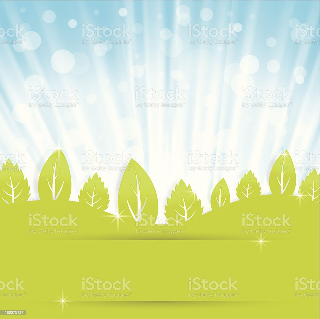 abstract background with green leaves royalty-free stock vector art