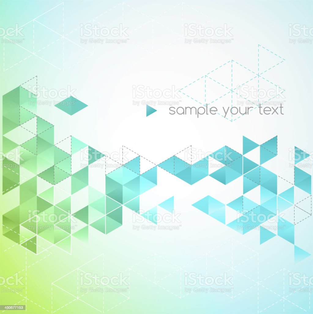 Abstract background with green-shaded crystals royalty-free stock vector art