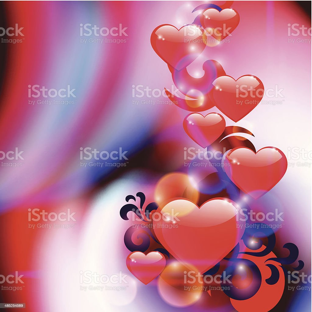 Abstract background with hearts royalty-free stock vector art