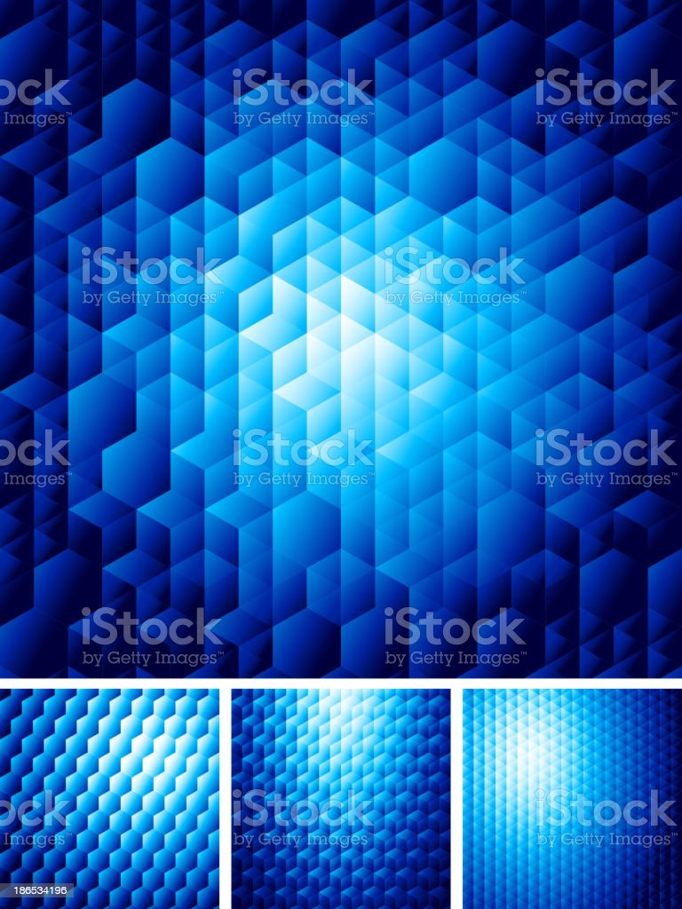 Abstract background with hexagons royalty-free stock vector art