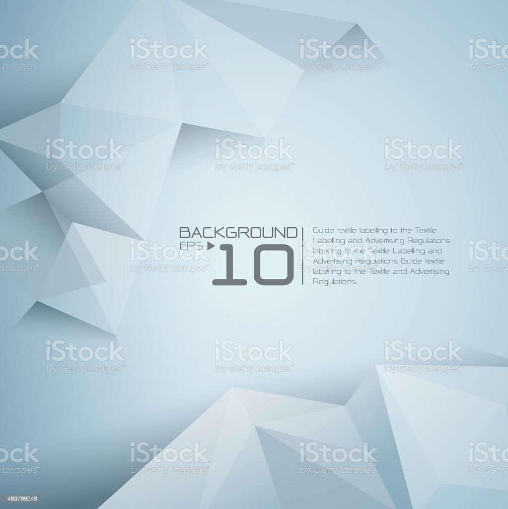 Abstract background with light polygon design royalty-free stock vector art