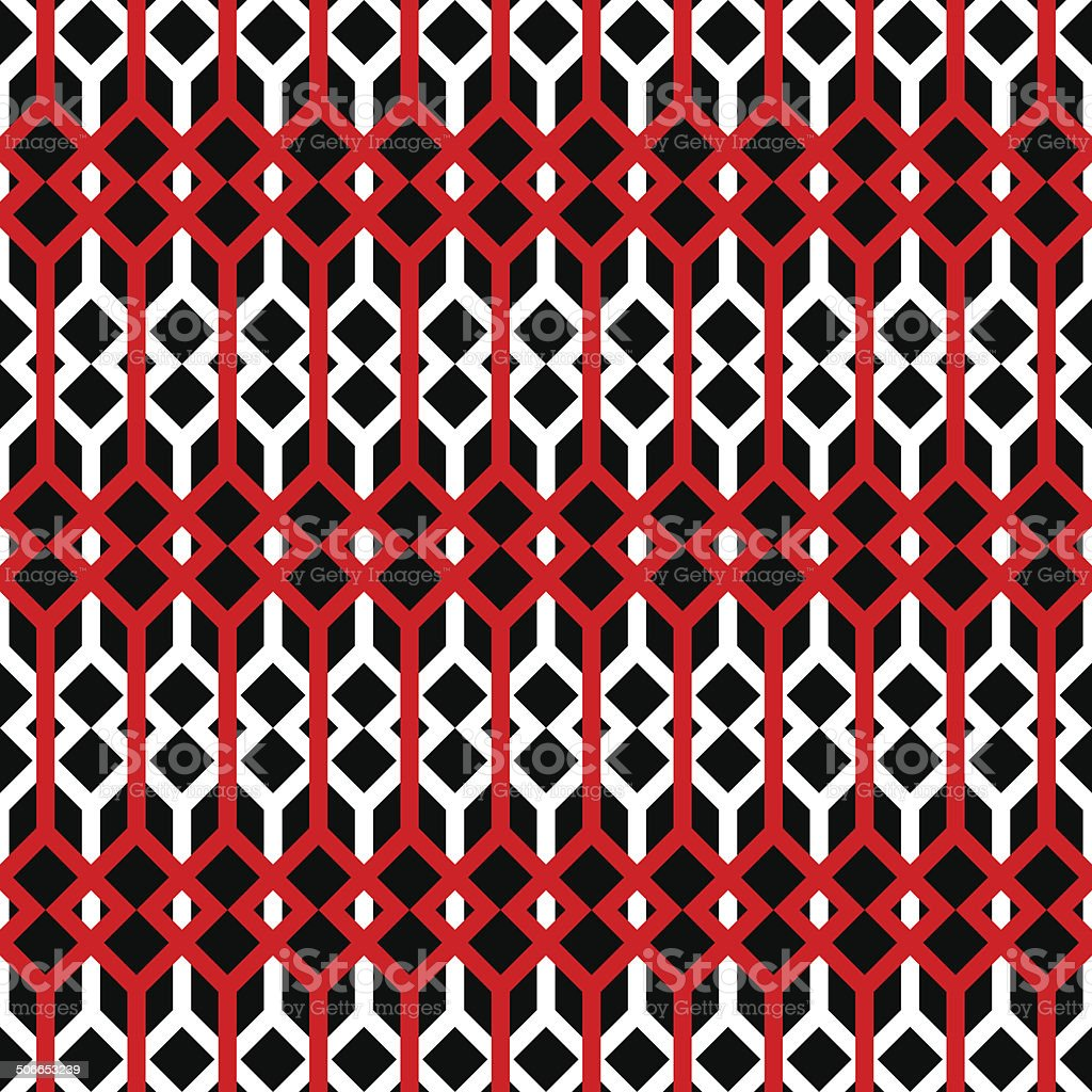 Abstract background with lines and squares. Seamless vector pattern. royalty-free stock vector art
