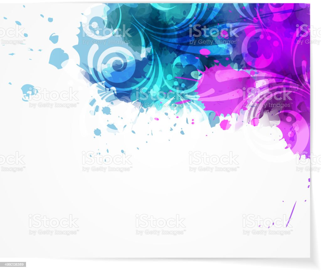 Abstract background with modern swirly design royalty-free stock vector art