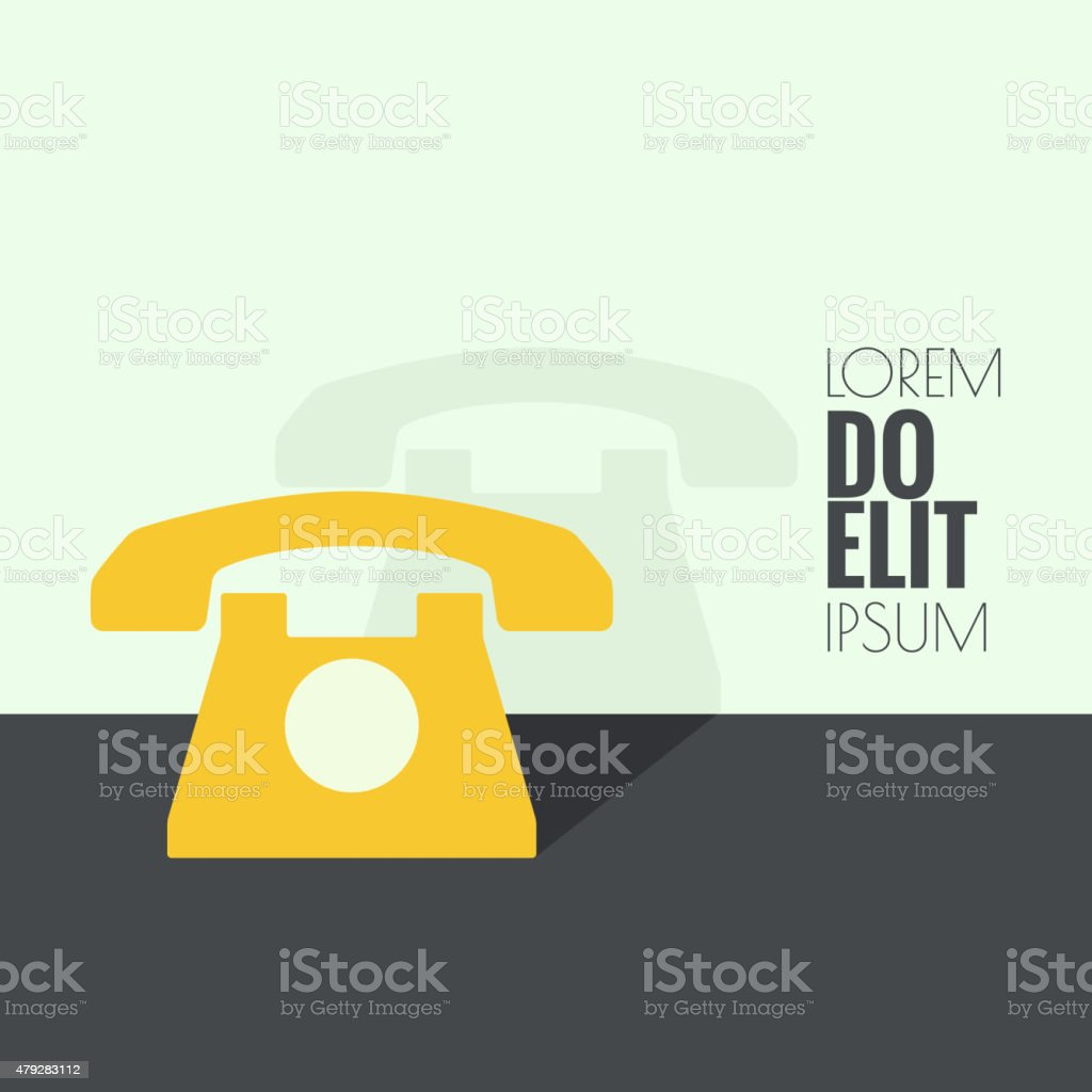 Abstract background with  old  telephone vector art illustration