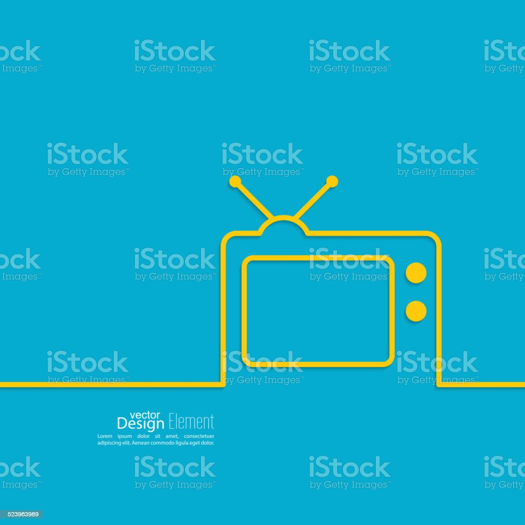 Abstract background with old TV vector art illustration