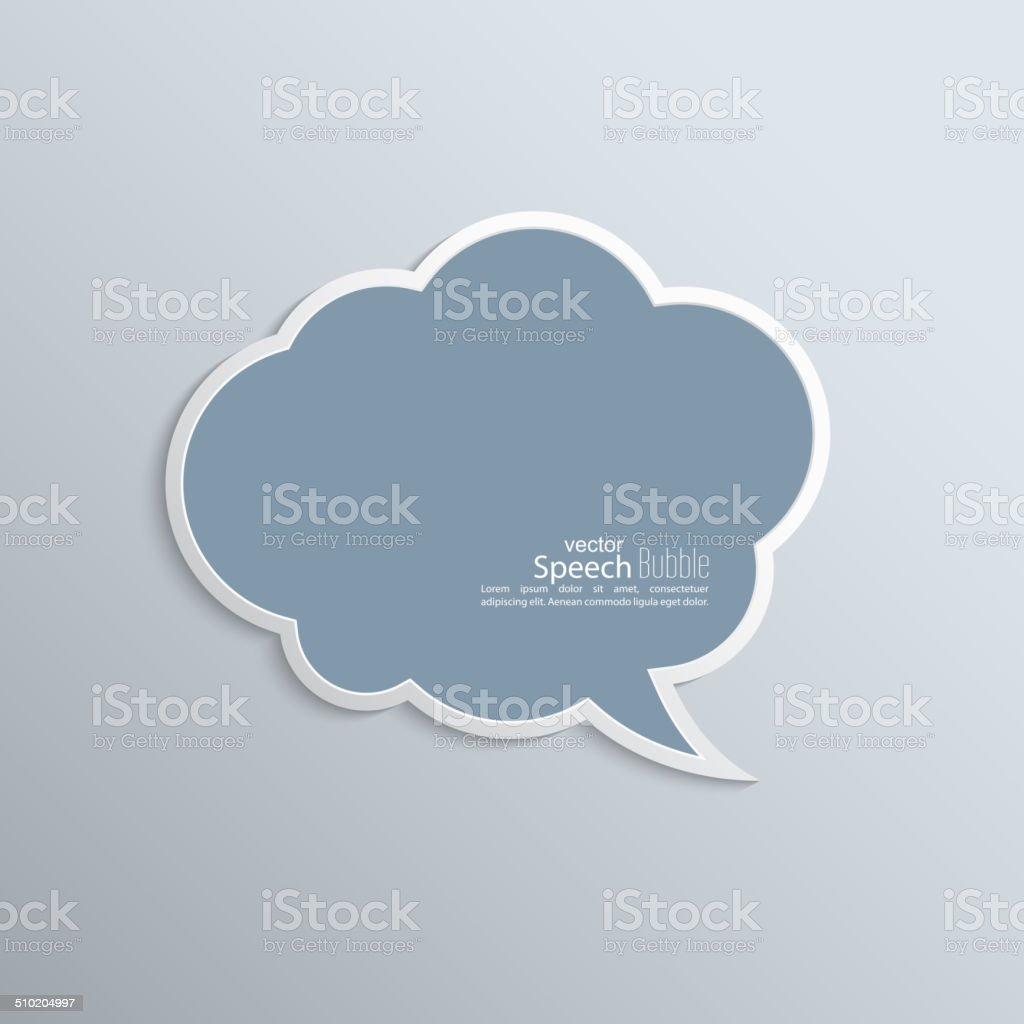 Abstract background with paper speech bubble vector art illustration