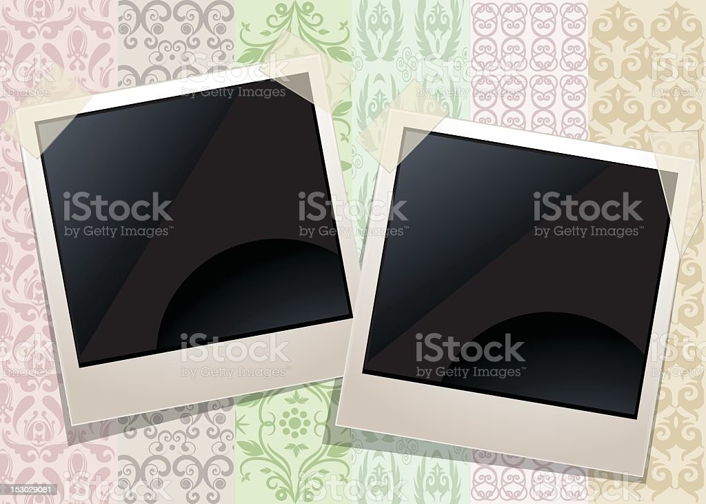 Abstract Background with Photo Frames stock photo