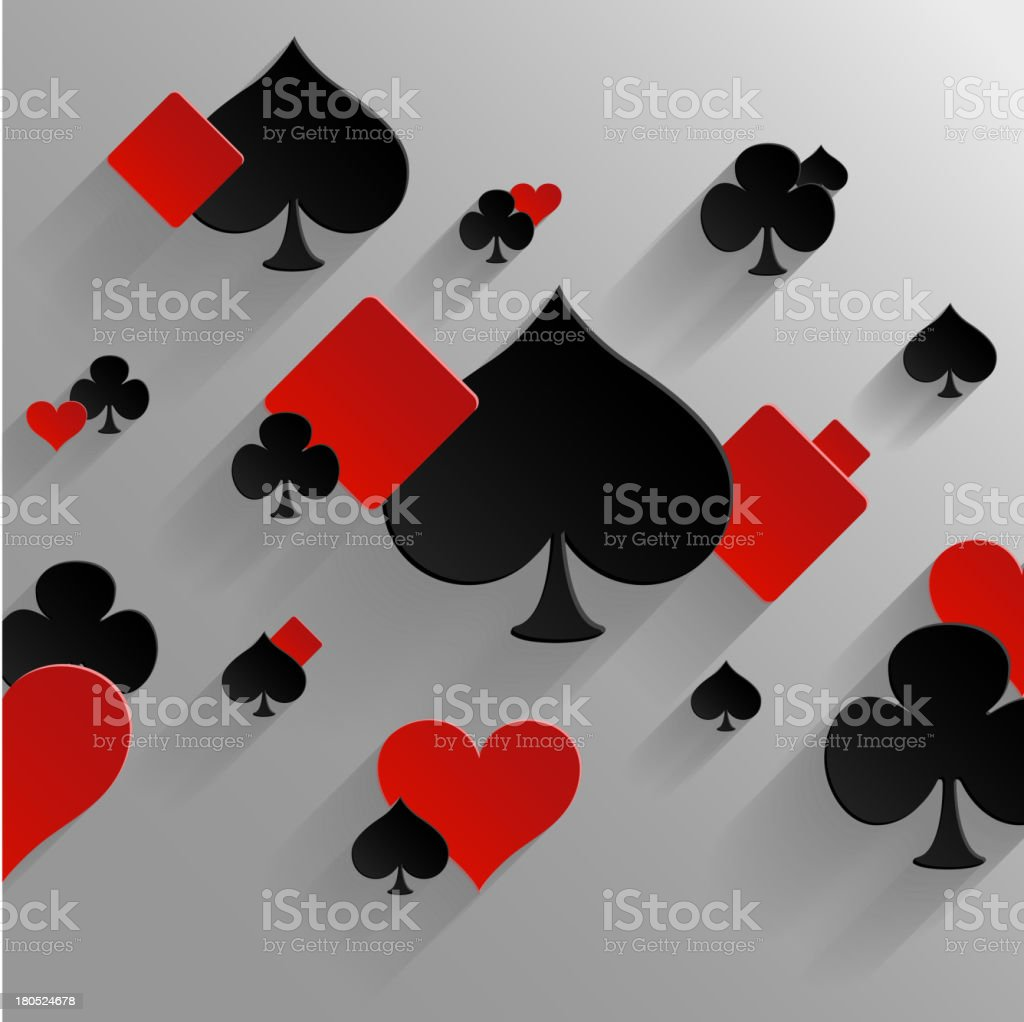 Abstract background with playing cards elements royalty-free stock vector art