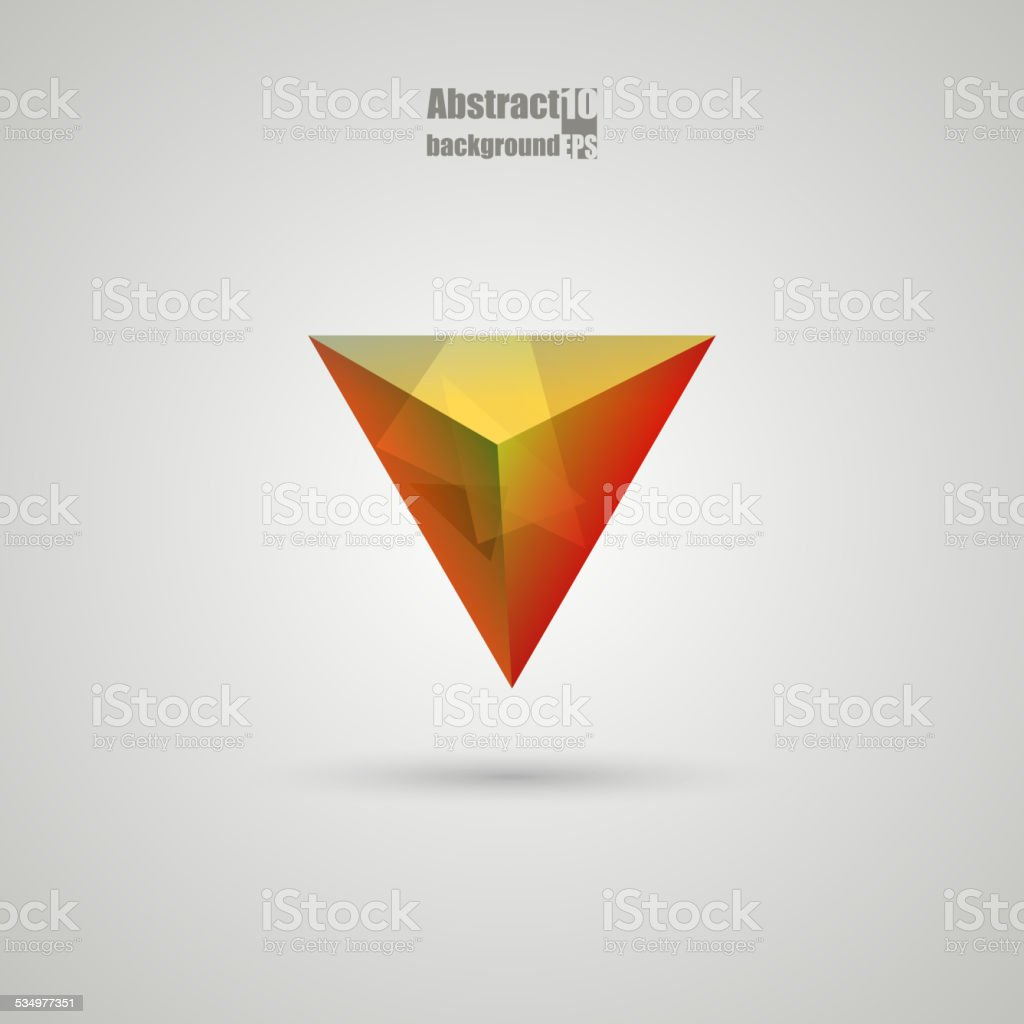 Abstract  background with prism. vector art illustration