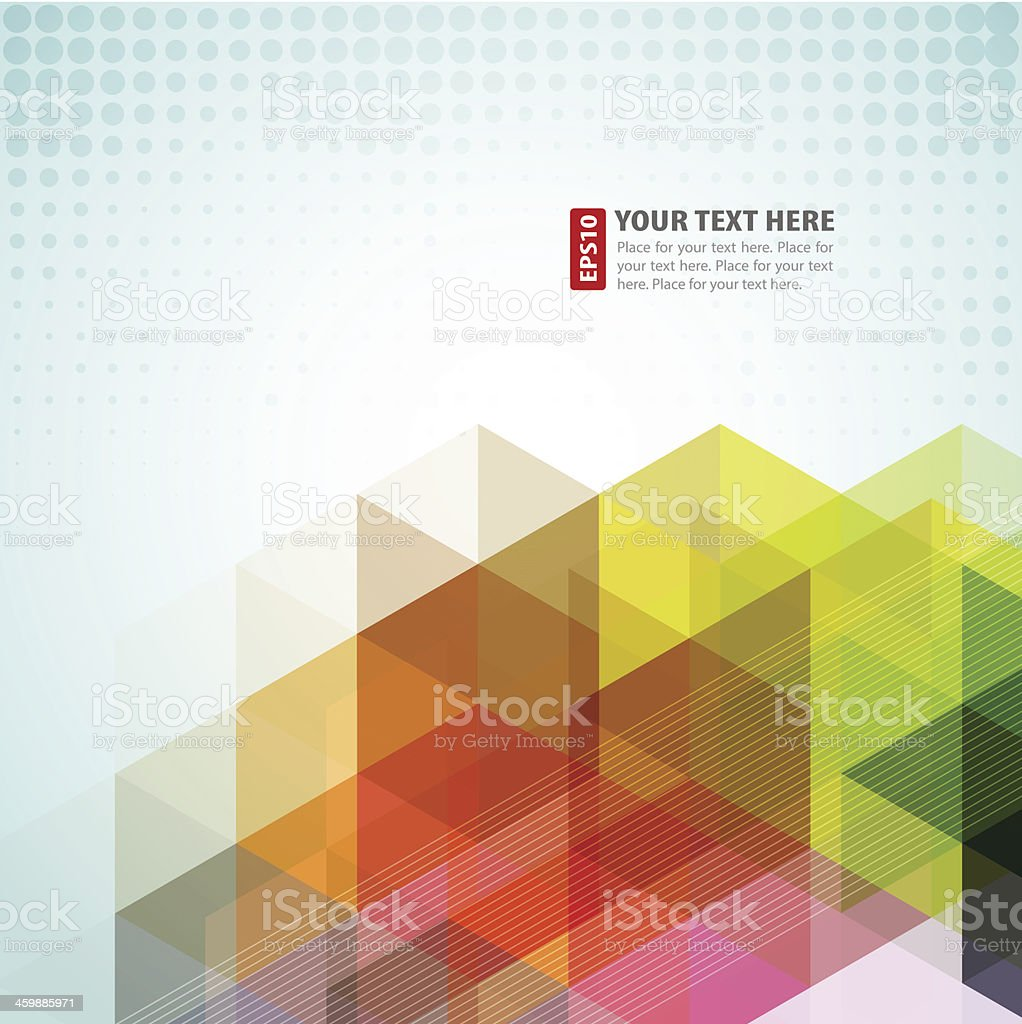 Abstract background with rainbow color shapes vector art illustration