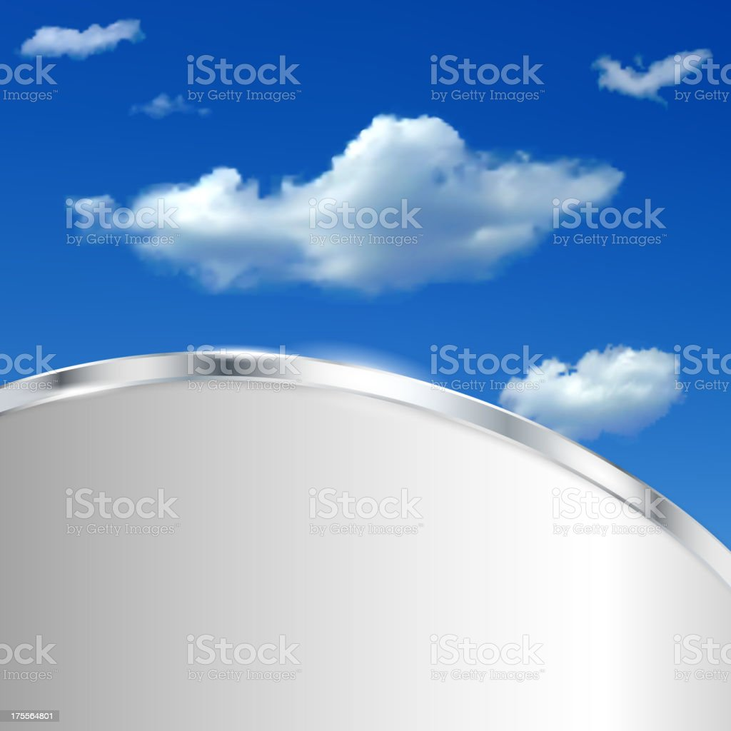 Abstract background with sky and clouds royalty-free stock vector art